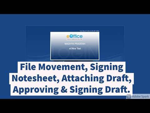 Video 8-File Movement, Signing Notesheet, Attaching Draft, Approving & Signing Draft Live Demo-Hindi