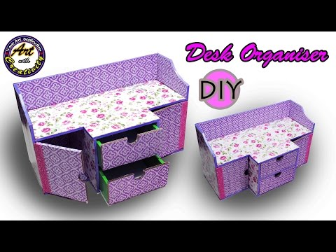 DIY Desk Organizer | Drawer Organizer from Card Board | Best out of Waste | Art with Creativity  202