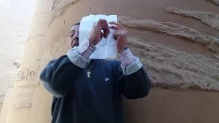 Уроки фараонской письменности от гида в Луксоре. Египет. 03.01.2017