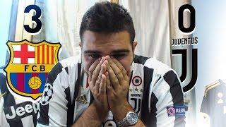 Barcellona - Juventus 3-0  Reazione di un Tifoso Juventino