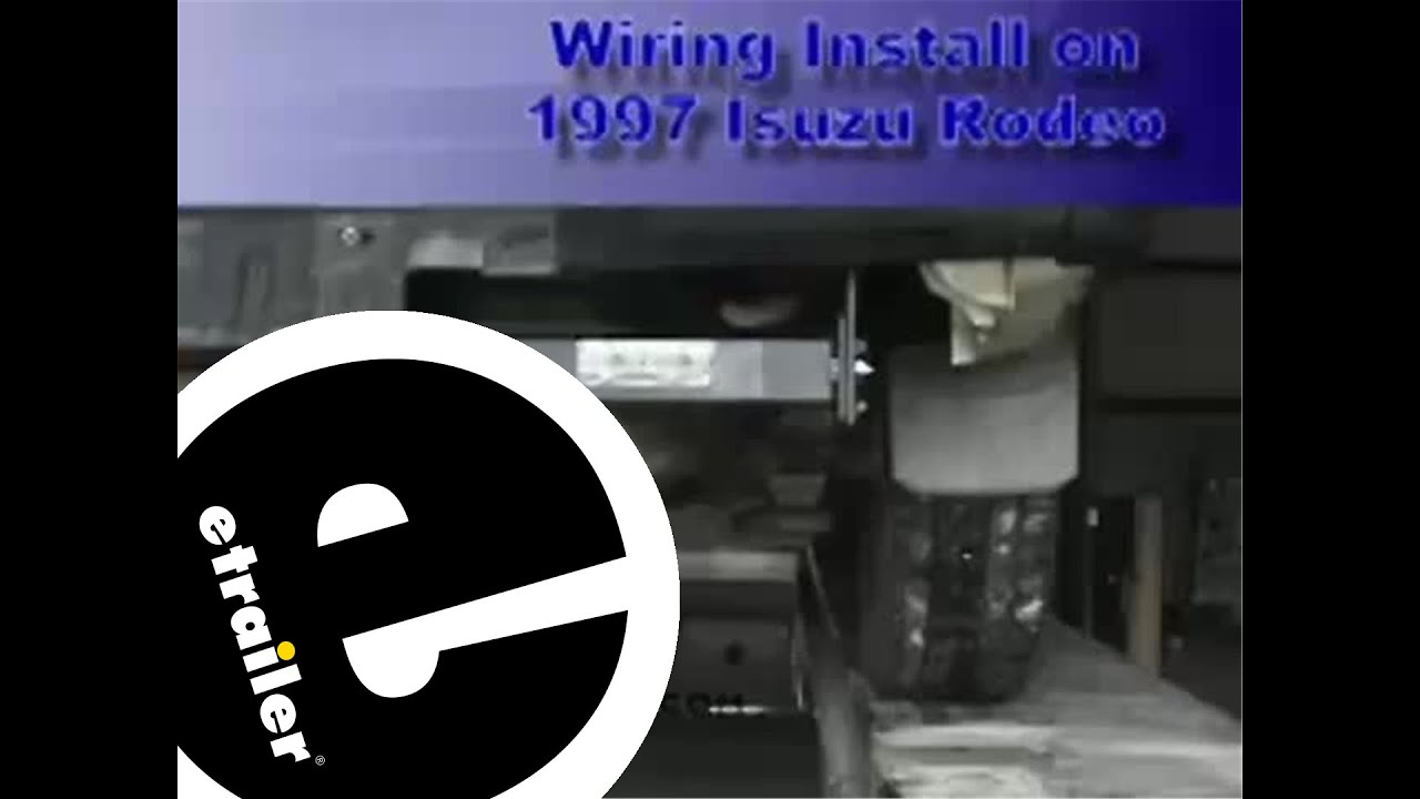 medium resolution of trailer wiring harness installation 1997 isuzu rodeo etrailer com