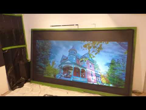 """TURNING A 120"""" 16:9  FIX FRAME SCREEN IN TO A ECLIPSE BLACK NANO PROJECTION SCREEN"""