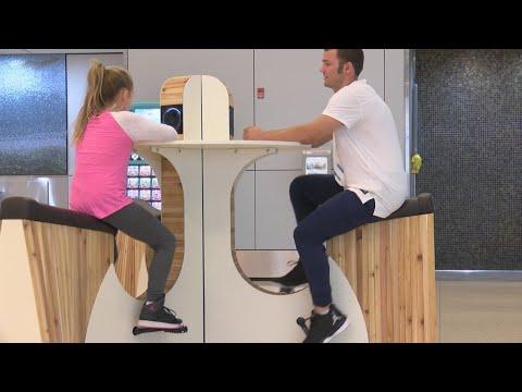 Indianapolis International Airport install human-powered charging station