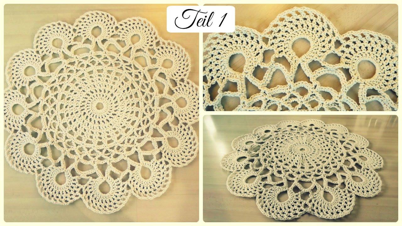 Fabulous Häkelteppich aus Baumwollseil #1 * DIY * Crochet Rug [eng sub UQ74