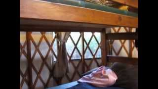 Tour of a Yurt at Beverly Beach State Park, Oregon Coast