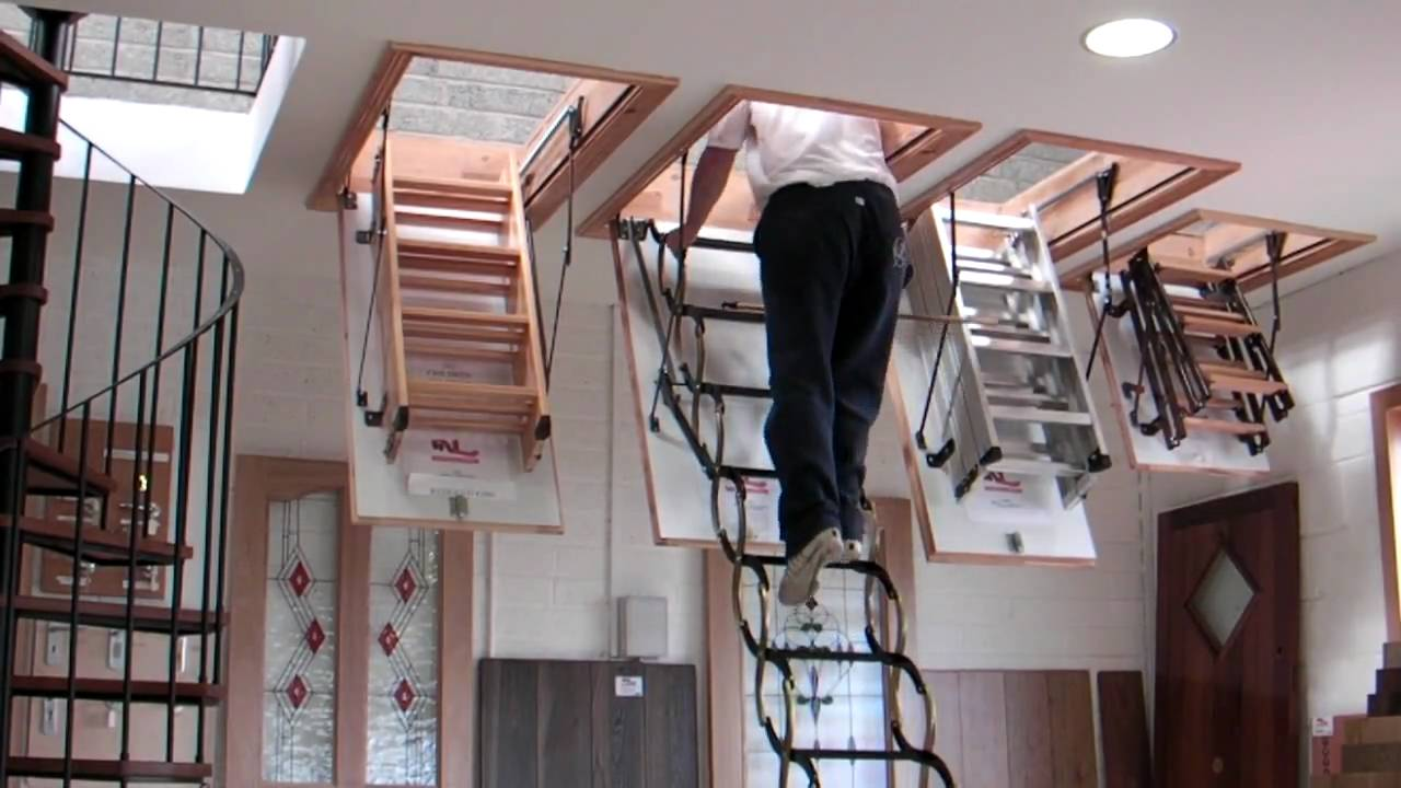 Murphy Larkin Attic Stairs, Attic Ladders   YouTube