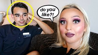 I DID MY MAKEUP HORRIBLY TO SEE HOW MY BOYFRIEND WOULD REACT!