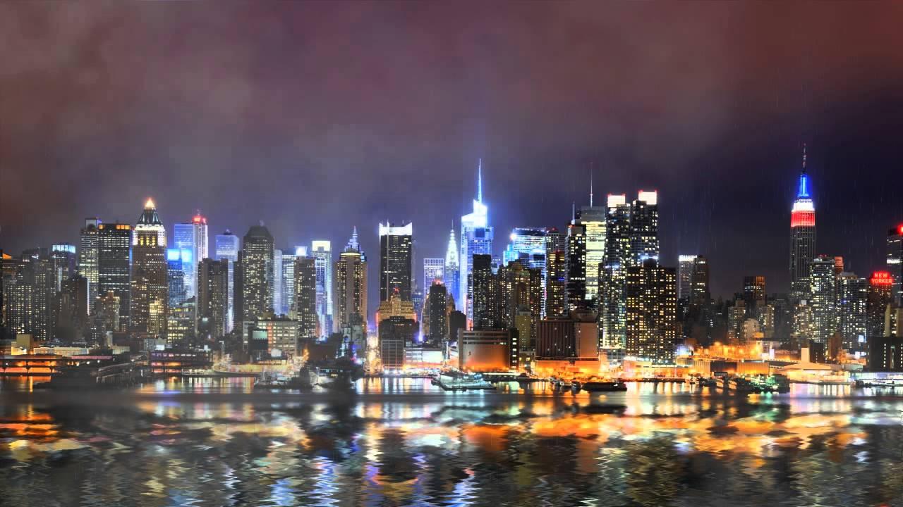 скачать ночной город картинку