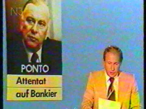 Tagesschau vom 30.07.1977- Attentat auf den Chef der Dresdner Bank Jürgen Ponto