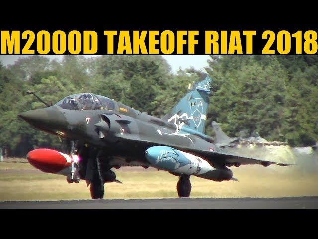 French Mirage 2000D Pair Takeoff & Climb | RIAT 2018