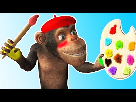 Monkey Bath Song | Little Boy Washing Face | Toddler Rhymes Cartoon for Kids