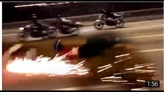 "200KPH Two-Stroke Motorcycle turns into a FIREWORKS!!! - ""ride safe always"""