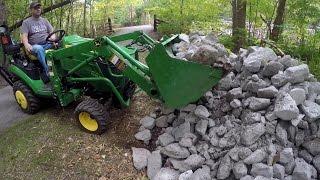 John Deere Compact Tractor - Finish Shirley's Creekbank