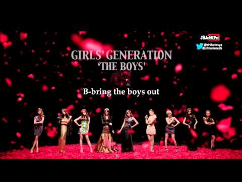 Girls' Generation - The Boys (English Version) Karaoke (Official Instrumental With Backup Vocal)