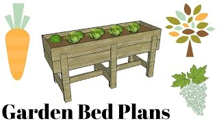 Waist high raised garden bed plans free