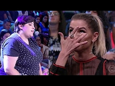Ana Vilela canta a música Trem Bala e Deborah Secco nao segura as lagrimas Altas Horas 18