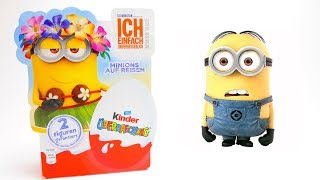Minion Toy Kinder Surprise Egg opening