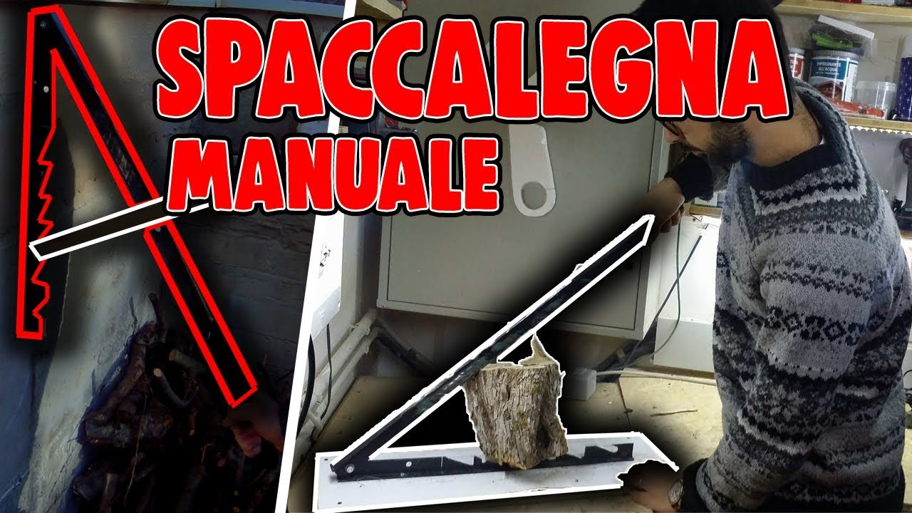 spaccalegna manuale fai da te youtube