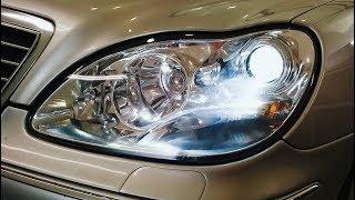 Mercedes S500 220. Headlights Tuning, hood ochish, kabel o'rniga.