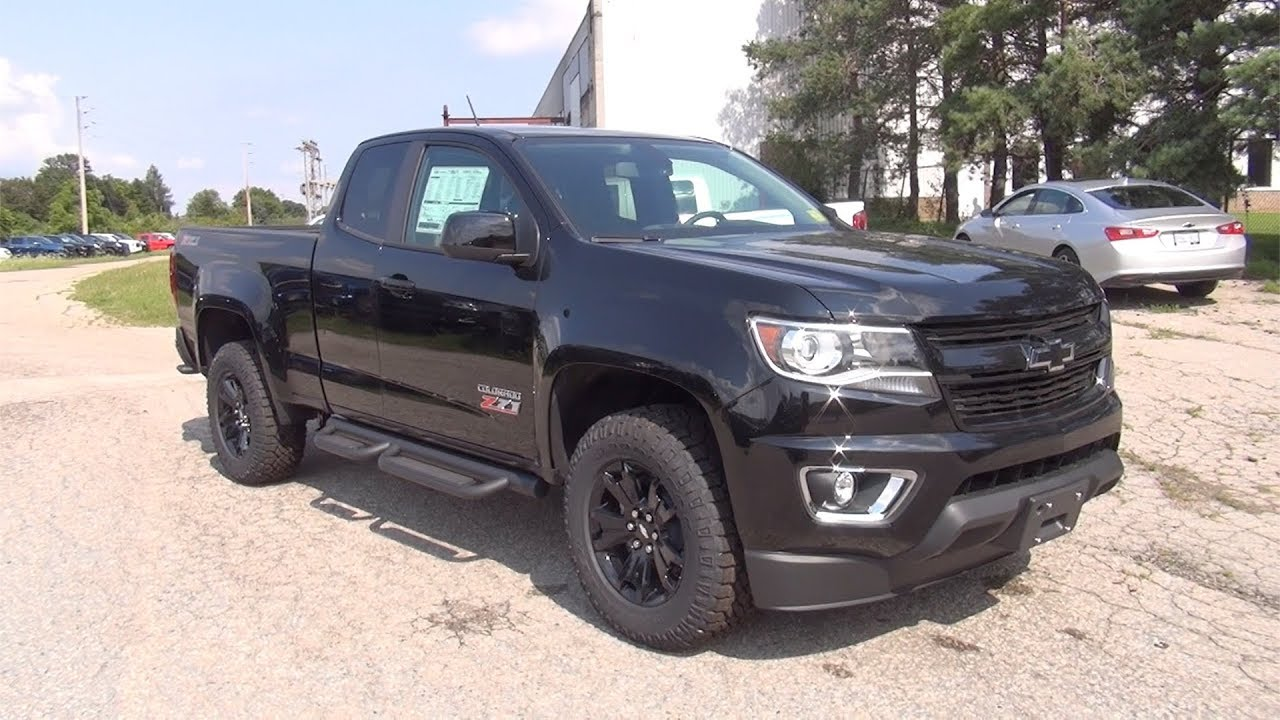 2017 Chevrolet Colorado Extended Cab Long Box 4wd Z71 Midnight Edition With 3 6l V6