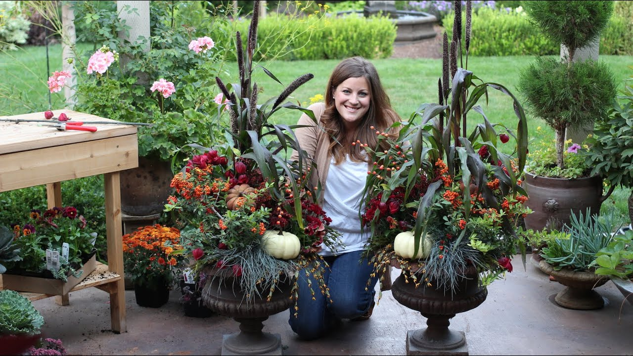 How To Create A Gorgeous Fall Planter   YouTube