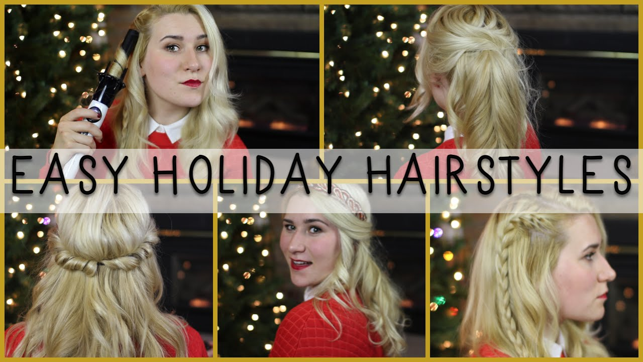 Quick & Easy Holiday Christmas Hairstyles YouTube