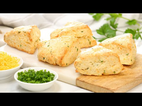 Cheddar Chive Scones   Delicious Fall Comfort Foods