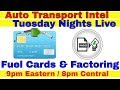 Fuel Cards For Truck Drivers & Auto Hauler Freight Invoice Factoring