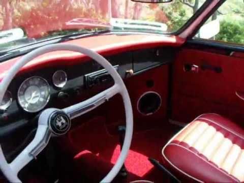 volkswagen karmann ghia totally restored black red white piping  youtube