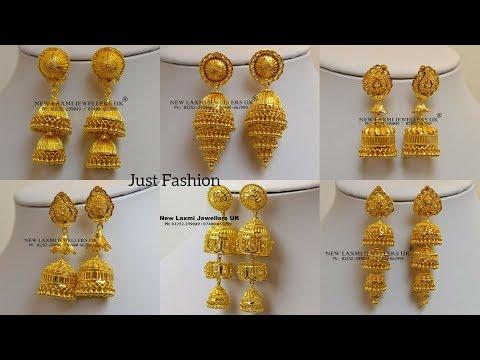 Designer gold JHUMKA |PINJADA |earrings Designs with weight under 7 gram to 20 gram