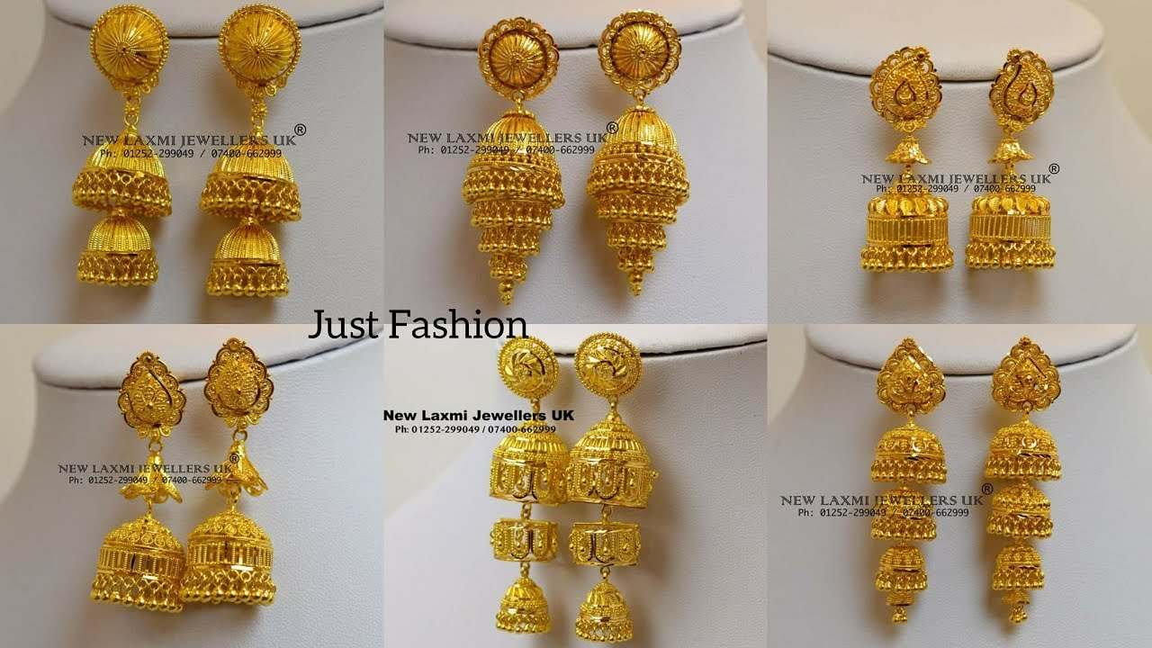 Designer Gold Jhumka Pinjada Earrings Designs With Weight Under 7 Gram To 20