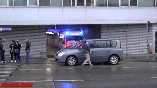 PKW blockiert Rettung vor Ausfahrt! (RTW Wiener Berufsrettung)