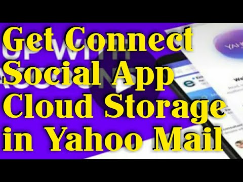 How To Link Social Media And Cloud Storage In Yahoo Mail Photo Contact Email