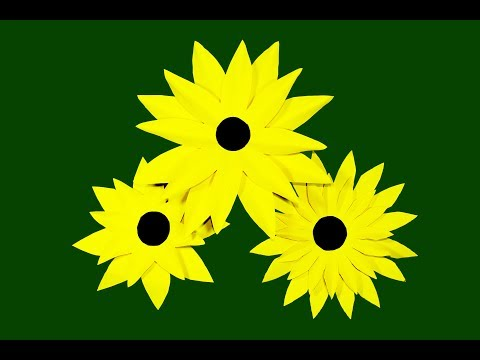 How To Make a Paper Sunflower Origami Sunflower Paper Craft Easy Origami Sunflower. Nira Paper Craft