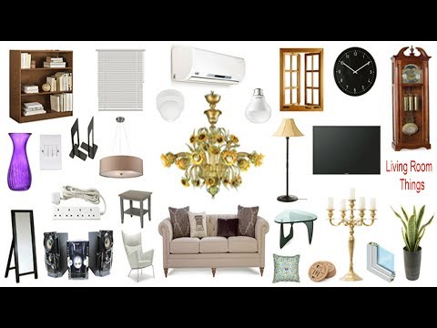 Living Room Thing Names, Meaning & Picture | Living Room Vocabulary | Necessary Vocabulary Tutorial