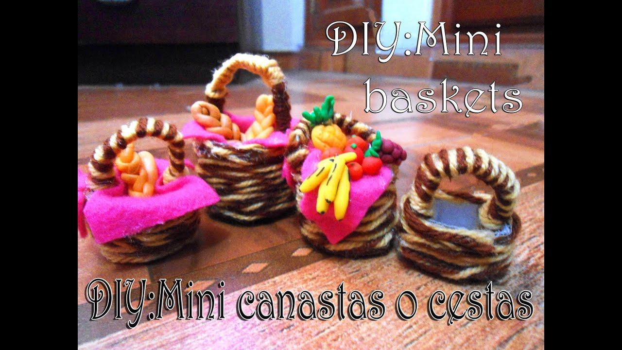 Como hacer mini canastas para mu ecas f cil how to - Canastas de mimbre decoradas ...