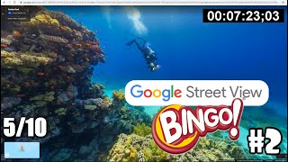 STREET VIEW BINGO #2 - Attempting to find SANTA, a crashed car, and someone skiing