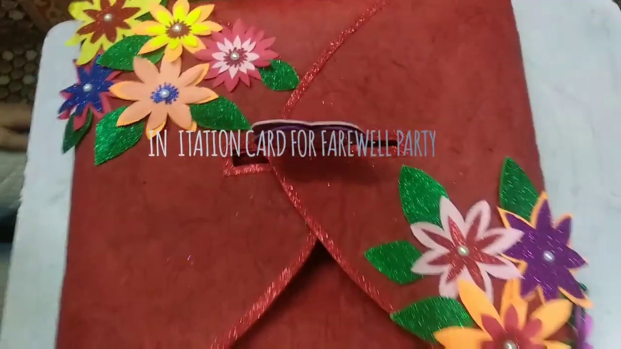 Invitation Card For Farewell Party
