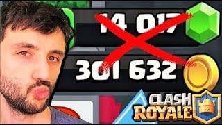 TAKİPÇİMİN ALTINLARINI İZİNSİZ HARCADIM !! - Clash Royale