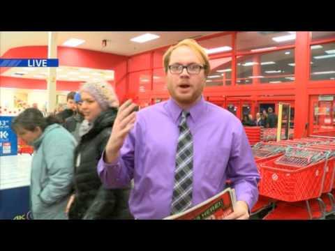 TV6's Donny Miller live at Target for Black Friday.. on Thursday