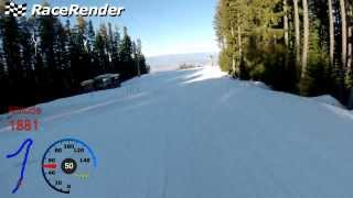 Bansko - GPS over Video - Slope #7 'Stara Pista'(Video - GoPro Hero3 GPS data (GPX format) - Runkeeper android application Merging done with Race Render 3 Trial Version., 2014-02-18T11:52:32.000Z)