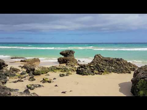 Reefs on the coast of Atlantic Ocean Fuerteventura 2016. Instrumental Piano Music