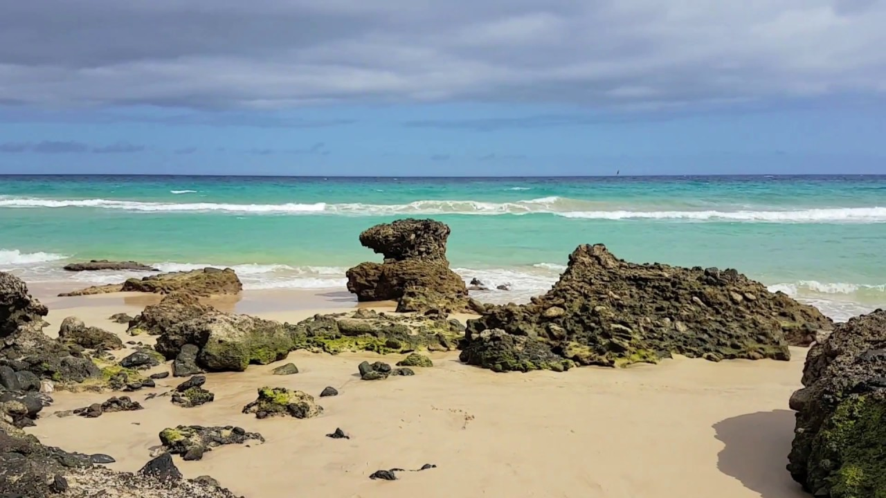 Reefs on the coast of Atlantic Ocean Fuerteventura 2016  Instrumental Piano  Music