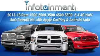 2013-18 Ram 1500 2500 3500 4500 5500  8.4 4C NAV UAQ Retrofit Kit with Apple CarPlay & Android Auto