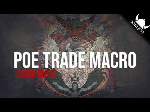 [3 6] Path of Exile: Price Check Trade Macro Quick Guide