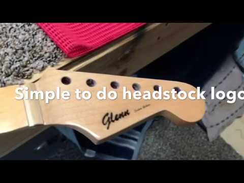 Headstock Logo Simple To Make With Paper And Clear Tape And Lacquer