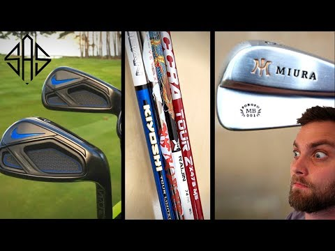 EXPENSIVE DRIVER SHAFTS, MIURA IRONS & NIKE GOLF CLUBS!?