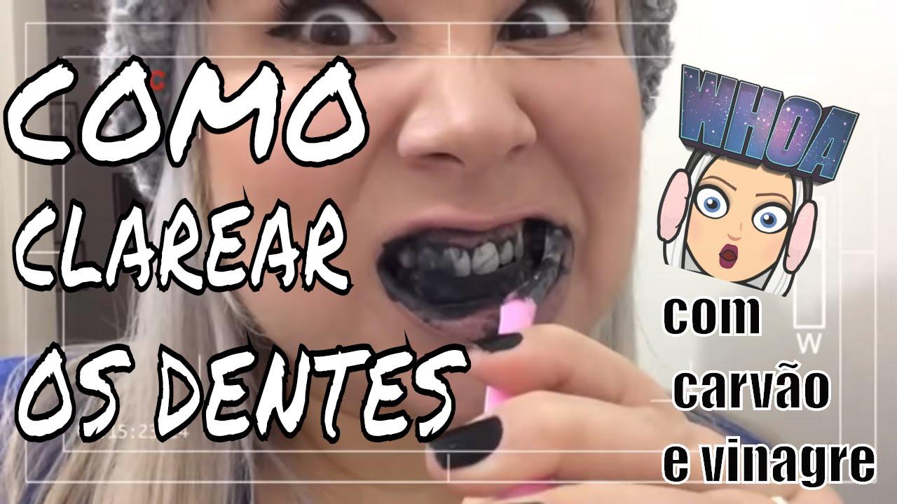 Como Clarear Os Dentes Usando Carvao E Vinagre Youtube