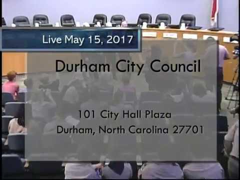 Durham City Council May 15, 2017