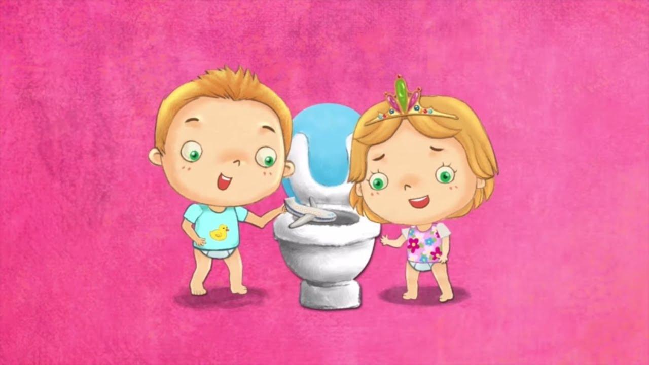 Initier Bébé Au Pot apprentissage de la propreté dessin animé titounis - t´choupi va sur le pot